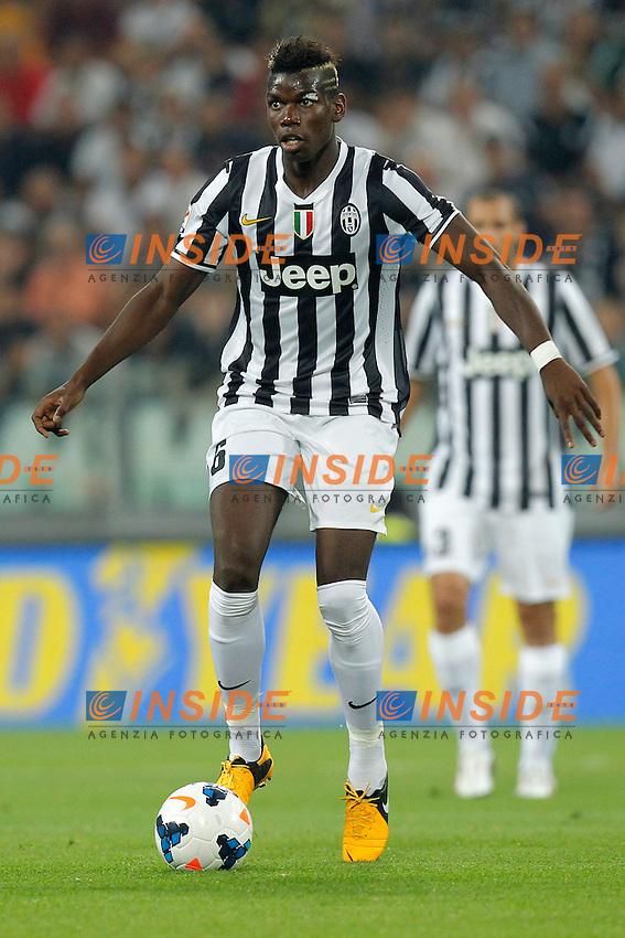 Paul Pogba Juventus,<br /> Torino 31-08-2013<br /> Juventus Stadium <br /> Football Calcio 2013/2014 Serie A <br /> Juventus - Lazio <br /> Foto Marco Bertorello Insidefoto