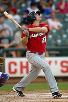 Oklahoma City RedHawks outfielder Brad Snyder #23 swings during the Pacific Coast League baseball game against the Round Rock Express on June 15, 2012 at the Dell Diamond in Round Rock, Texas. The Express shutout the RedHawks 2-1. (Andrew Woolley/Four Seam Images).