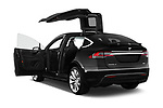 Car images close up view of a 2017 Tesla Model X 100D 5 Door SUV doors