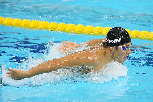 Daiya Seto (JPN), <br /> SEPTEMBER 21, 2014 - Swimming : <br /> Men's 200m Butterfly Heat <br /> at Munhak Park Tae-hwan Aquatics Center <br /> during the 2014 Incheon Asian Games in Incheon, South Korea. <br /> (Photo by YUTAKA/AFLO SPORT) [1040]