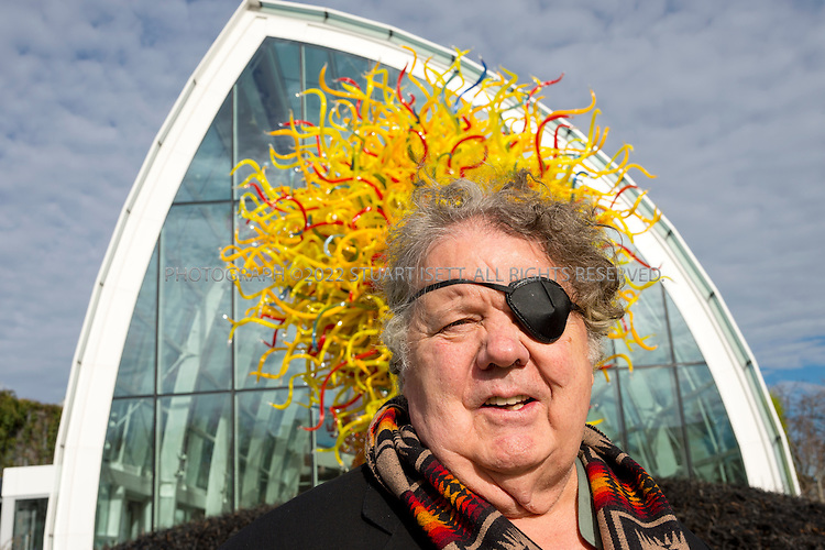 2/25/2014&mdash;Seattle, WA, USA<br /> <br /> Dale Chihuly and the Chihuly Garden and Glass Museum in the Seattle Center.<br /> <br /> Here Mr. Chihuly tours the Chihuly Garden and Glass Museum.<br /> <br /> Photograph by Stuart Isett<br /> &copy;2014 Stuart Isett. All rights reserved.