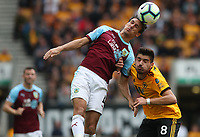 Burnley's Jack Cork and Wolverhampton Wanderers' Ruben Neves<br /> <br /> Photographer Rachel Holborn/CameraSport<br /> <br /> The Premier League - Wolverhampton Wanderers v Burnley - Sunday 16th September 2018 - Molineux - Wolverhampton<br /> <br /> World Copyright &copy; 2018 CameraSport. All rights reserved. 43 Linden Ave. Countesthorpe. Leicester. England. LE8 5PG - Tel: +44 (0) 116 277 4147 - admin@camerasport.com - www.camerasport.com