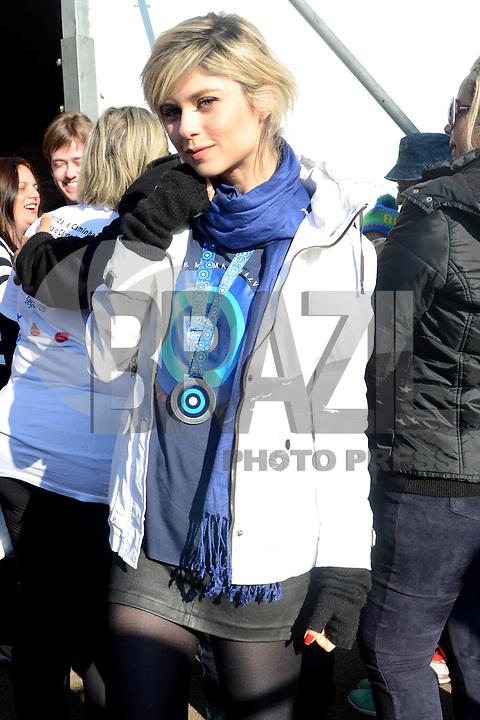 SÃO PAULO,SP, 12.06.2016 - CORRIDA-CANCER -  Atriz Juliana Trevisol durante  Corrida e Caminhada Contra o Câncer de Mama, com largada no Ibirapuera,12 em São Paulo. (Foto: Eduardo Martins / Brazil Photo Press)