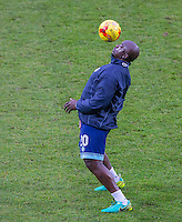 Adebayo Akinfenwa of Wycombe Wanderers before the Sky Bet League 2 match between Notts County and Wycombe Wanderers at Meadow Lane, Nottingham, England on 10 December 2016. Photo by Andy Rowland.
