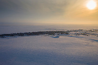 Sunsets over Norton Sound and the community of Nome, Alaska.