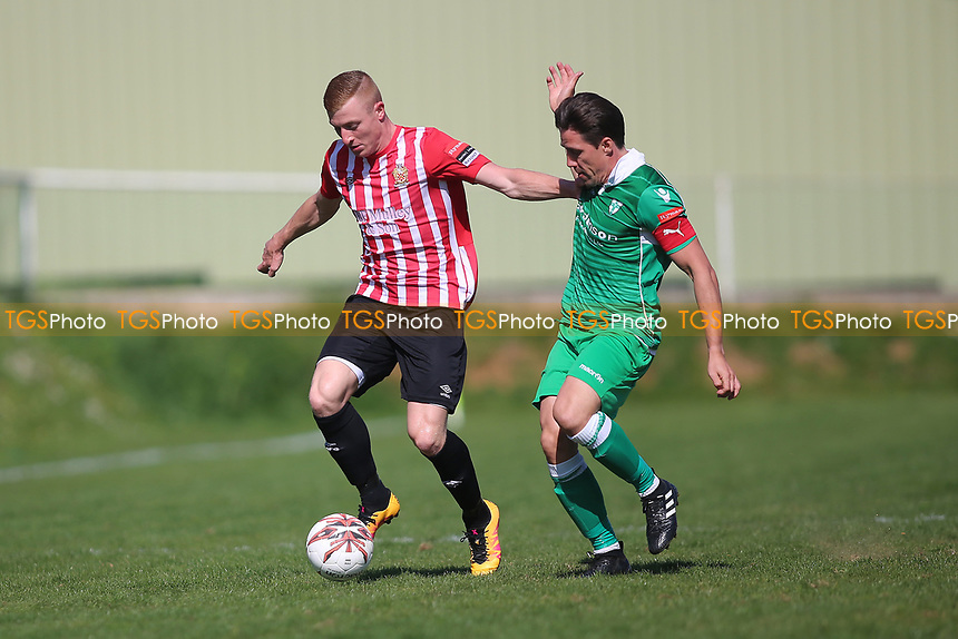 Sam Bantick of Hornchurch and Billy Holland of Waltham Abbey during Waltham Abbey vs AFC Hornchurch, Ryman League Division 1 North Football at Capershotts on 8th April 2017