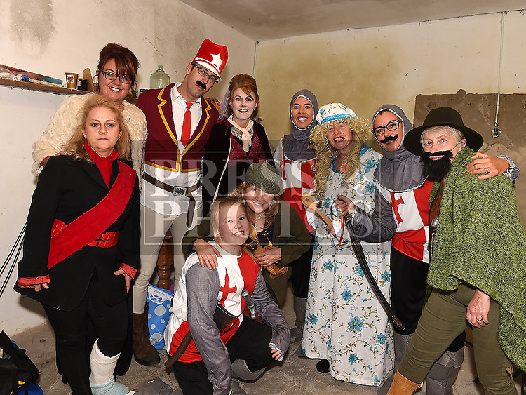 The cast of the play 'Battle of Julianstown' at Sonairte in Laytown. Photo:Colin Bell/pressphotos.ie