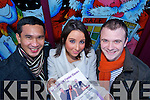 CHARITY: Three Kerry Singers pictured from l-r: Roel Villones,.Iona Le Gros and Cormac O'Daly, promoting their classical music concert this friday night in aid of local chaities.   Copyright Kerry's Eye 2008
