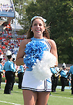 15 September 2007: UNC Cheerleader. The University of Virginia Cavaliers defeated the University of North Carolina Tar Heels 22-20 at Kenan Stadium in Chapel Hill, North Carolina in an Atlantic Coast Conference NCAA College Football Division I game.