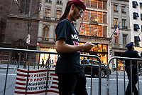 NEW YORK, USA - JUNE 01 :  Participant in the Iftar at Trump Tower event of the  M Power Change social organization  and the New York State Immigrant Action Fund to bring New York Muslim communities together for an Iftar at Trump Tower during Ramadan on June 01,2017 in New York. Joana Toro/VIEW press