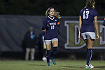 WINSTON-SALEM, NC - NOVEMBER 10: Georgetown's Rachel Corboz. The Wake Forest University Demon Deacons hosted the Georgetown University Hoyas on November 10, 2017 at W. Dennie Spry Soccer Stadium in Winston-Salem, NC in an NCAA Division I Women's Soccer Tournament First Round game. Wake Forest advanced 2-1 on penalty kicks after the game ended in a 0-0 tie after overtime.