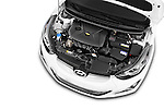 Car Stock 2015 Hyundai Elantra Sport 4 Door Sedan Engine high angle detail view