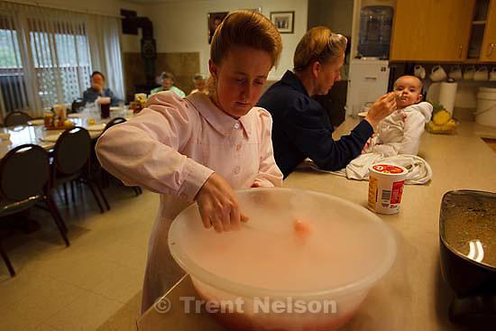 Westcliffe - . Monday, July 28, 2008. preparing dinner