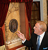 The London Palladium<br /> 100th Anniversary <br /> arrivals <br /> Argyll Street, London, Great Britain <br /> 12th October 2010 <br /> <br /> Plaque unveiling by Bruce Forsyth<br /> <br /> <br /> Photograph by Elliott Franks