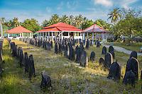Maldives, Fenfushi Island, Muslim graves.