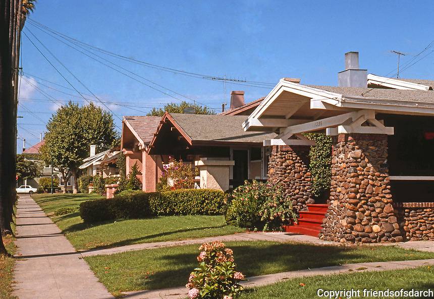 Alameda CA: California Bungalows, c. 1915. 1300 block Burbank St. Photo '78.