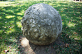Palmar, Costa Rica. Perfect stone spheres made by pre-Columbian Indians; exact significance is a mystery.