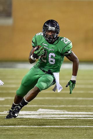 DENTON, TX - OCTOBER 15: North Texas Mean Green football v Western Kentucky at Apogee Stadium on October 15, 2015 in Denton, Texas. (Photo by Rick Yeatts Photography / Manny Florez