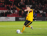 Wolverhampton Wanderers U21's Elliot Watt scores from the penalty spot<br /> <br /> Photographer Andrew Vaughan/CameraSport<br /> <br /> The EFL Checkatrade Trophy Northern Group H - Lincoln City v Wolverhampton Wanderers U21 - Tuesday 6th November 2018 - Sincil Bank - Lincoln<br />  <br /> World Copyright © 2018 CameraSport. All rights reserved. 43 Linden Ave. Countesthorpe. Leicester. England. LE8 5PG - Tel: +44 (0) 116 277 4147 - admin@camerasport.com - www.camerasport.com