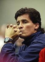 14-02-2005,Rotterdam, ABNAMROWTT ,  Coria's coach beleefd nerveuze momenten in de partij tegen  Sluiter