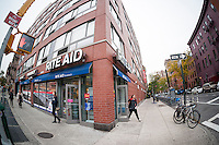 A Rite Aid drug store in the Chelsea neighborhood of New York on Tuesday, October 27, 2015. Walgreens Boots Alliance is reported to be close to a deal to acquire the Rite Aid pharmacy chain. (© Richard B. Levine)