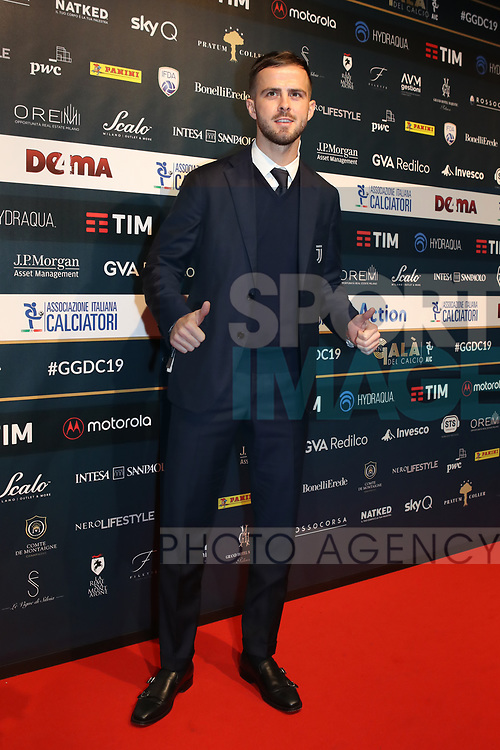 Miralem Pjanic of Juventus pictured at the The Italian Footballers Association Grand Gala of Football at the Megawatt Court, Milan. Picture date: 2nd December 2019. Picture credit should read: Jonathan Moscrop/Sportimage