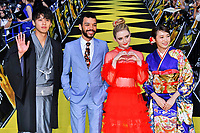 "Ryoma Takeuchi, Justice Smith, Kathryn Newton und Marie Iitoyo attend the World premiere for ""Pokemon: Detective Pikachu"" at Kabuki-cho in Tokyo, Japan on April 25, 2019."