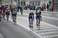 Tony Martin (DEU/Etixx-Quickstep) & Nikolas Maes (BEL/Etixx-QuickStep) riding out of Compiègne, on their way to the official start<br /> <br /> 114th Paris-Roubaix 2016