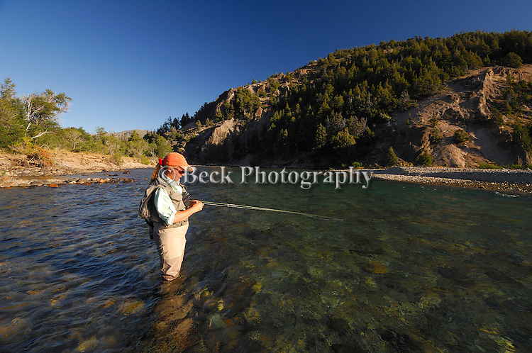 Fly fishing the Rio Traful in Argentina