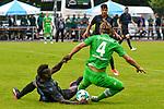 20.07.2017, Sportplatz Birkenmoos, Rottach-Egern, GER, FSP, Borussia M&ouml;nchengladbach vs OGC Nizza, im Bild Mario Balotelli (Nizza #9) foult Jannik Vestergaard (Gladbach #4)<br /> <br /> Foto &copy; nordphoto / Hafner