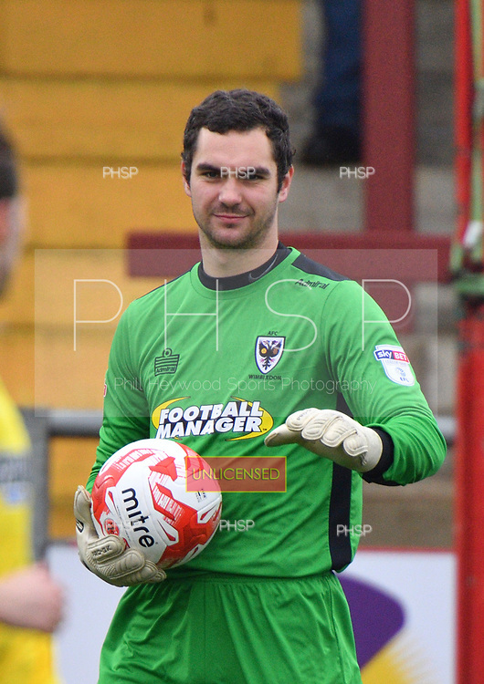 18/03/2017 Sky Bet League 1 Fleetwood Town v AFC Wimbledon<br /> <br /> James Shea, AFC Wimbledon