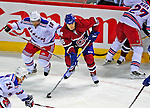 4 December 2008: Montreal Canadiens' right wing forward Tom Kostopoulos in action against the New York Rangers at the Bell Centre in Montreal, Quebec, Canada. The Canadiens, celebrating their 100th season, played in the circa 1915-1916 uniforms for the evenings' Original Six matchup. The Canadiens defeated the Rangers 6-2. *****Editorial Use Only*****..Mandatory Photo Credit: Ed Wolfstein Photo