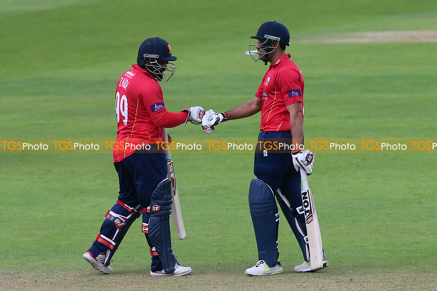 Ashar Zaidi (L) and Ravi Bopara of Essex during Somerset vs Essex Eagles, Royal London One-Day Cup Cricket at The Cooper Associates County Ground on 14th May 2017