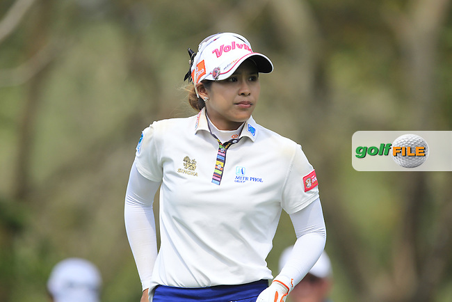 Pornanong Phatlum (THA) on the 12th tee during Round 1 of the Honda LPGA Thailand on Thursday 23rd February 2017.<br /> Picture:  Thos Caffrey / Golffile