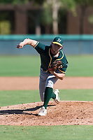 Oakland Athletics relief pitcher Chase Cohen (51) delivers a pitch during an Instructional League game against the Los Angeles Dodgers at Camelback Ranch on September 27, 2018 in Glendale, Arizona. (Zachary Lucy/Four Seam Images)