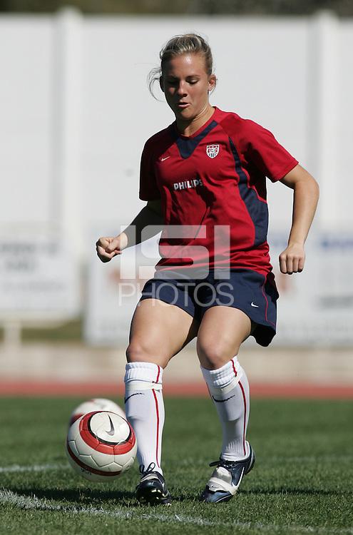 MAR 11, 2006: Quarteira, Portugal:  USWNT forward Amy Rodriguez