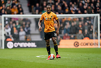 7th March 2020; Molineux Stadium, Wolverhampton, West Midlands, England; English Premier League, Wolverhampton Wanderers versus Brighton and Hove Albion; Willy Boly of Wolverhampton Wanderers slows the ball down in defence