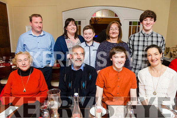 Sean Cahill, Racecourse Lawn, Tralee, celebrating his 18th birthday with family at Denny Lane on Friday Pictured Teresa Cahill, Denis Cahill, Sean Cahill, Sharon Cahill. Back l-r John O'Flaherty, Norma O'Flaherty, Jack O'Flaherty, Brenda Cahill and Eoin Cahill