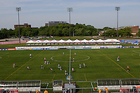 Youth teams play on the field prior to the game. FC Gold Pride defeated Sky Blue FC 1-0 during a Women's Professional Soccer (WPS) match at Yurcak Field in Piscataway, NJ, on May 1, 2010.