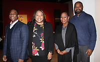 NWA Democrat-Gazette/CARIN SCHOPPMEYER Corey Bender (from left), Twilla Brooks, Marvin and Nicole Deshommes attend the Men of Steel, Women of Wonder preview.