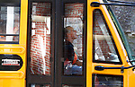 "Newell drives the school bus for Leslie County High School and Mountain Elementary School for more than four hours each school day. ""I have a good relationship with the kids,"" said Newell. Photo by Tessa Lighty"