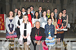Pupils from Cahir National School, Kenmare who were confirmed by Bishop Bill Murphy in the Holy Cross Church, Kenmare on Monday, March 12th..Front row right to left, Rachel Whelton, Katie Mc Carthy. 2nd row. r to l Siobhan O Shea, Rosina Law Braney, Chloe Randles, Kelly Cassidy, Katie Quill, Aobha Donovan. 3rd row r to l Ben Crowley, Andrew Law Braney, Aaron Kidney, Mark Riordan, Padraic Randles, Cuan O Foghlu, Kathy Riordan.