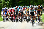The peleton in action during Stage 4 of the 2018 Criterium du Dauphine 2018 running 181km from Chazey sur Ain to Lans en Vercors, France. 7th June 2018.<br /> Picture: ASO/Alex Broadway | Cyclefile<br /> <br /> <br /> All photos usage must carry mandatory copyright credit (&copy; Cyclefile | ASO/Alex Broadway)