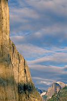 The base of El Capitan and Half Dome<br /> Yosemite Valley<br /> Yosemite National Park<br /> Sierra Nevada,  California