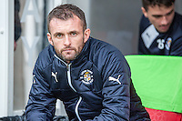 Nathan Jones Manager of Luton Town  during the Sky Bet League 2 match between Crawley Town and Luton Town at the Broadfield/Checkatrade.com Stadium, Crawley, England on 17 September 2016. Photo by Edward Thomas / PRiME Media Images.