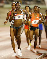Kenia Sinclair winning the 800m in a time of 2:01.02sec. at the Jamaica International Invitational Meet held at the National Stadium on Saturday, May 2nd. 2009. Photo by Errol Anderson,The Sporting Image.net