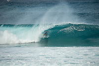 Pipeline, North Shore of Oahu, Hawaii Friday December 19 2014) Kelly Slater (USA) - The final stop of the 2014  World Championship Tour, the Billabong Pipe Masters in Memory of Andy Irons, was  ccompleted today in NW double overhead surf. <br /> Gabriel Medina (BRA) became the first ever Brazilian World Champion after both rival contenders , Kelly Slater (USA) and Mick Fanning (AUS) were eliminated from the contest. Medina went onto finish 2nd overall behind Julian Wilson (AUS). <br /> In the overlapping heat format Wilson surf three consequent heats and still had enough entry to take out the 30 minute final.<br /> By winning the final Wilson also won the covered Vans Triple Crown of Surfing for best overall performance through the whole Triple Crown.<br /> <br /> The Billabong Pipe Masters in Memory of Andy Irons will determine this year&rsquo;s world surfing champion as well as those who qualify for the elite tour in 2015. As the third and final stop on the Vans Triple Crown of Surfing Series  the event will also determine the winner of the revered three-event leg.<br /> <br />  Photo: joliphotos.com