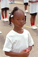 Dancer age 7 in Grand Old Day parade.  St Paul  Minnesota USA