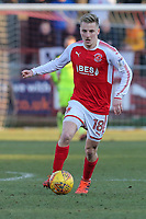 George Glendon of Fleetwood Town during the Sky Bet League 1 match between Fleetwood Town and MK Dons at Highbury Stadium, Fleetwood, England on 24 February 2018. Photo by David Horn / PRiME Media Images