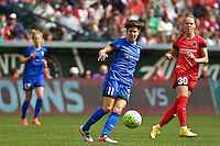 Portland, Oregon - Sunday May 29, 2016: Seattle Reign FC midfielder Keelin Winters (11). The Portland Thorns play the Seattle Reign during a regular season NWSL match at Providence Park.
